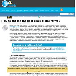 How to choose the best Linux distro for you