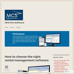 How to choose the right rental management software – MCS Hire Software