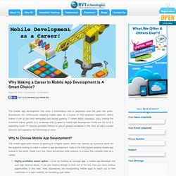 Why To Choose Mobile App Development as Your Career?