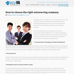 How to Choose the Right Outsourcing Company