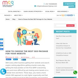 How to Choose the Best SEO Package for Your Website