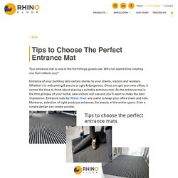 Tips to choose the perfect entrance mat