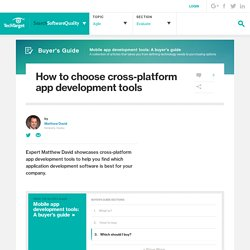 How to choose cross-platform app development tools