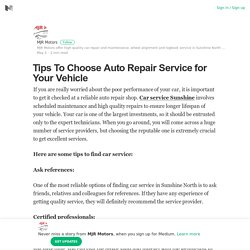 Find the Best Car Repairs Company