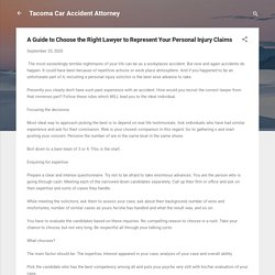A Guide to Choose the Right Lawyer to Represent Your Personal Injury Claims
