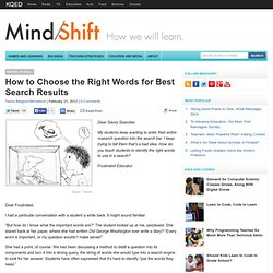 How to Choose the Right Words for Best Search Results