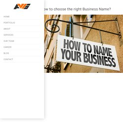 How to choose the right Business Name?