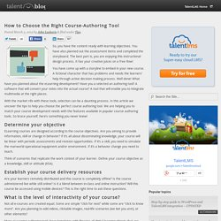 How to Choose the Right Course-Authoring Tool