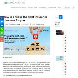 How to choose the right insurance company for you