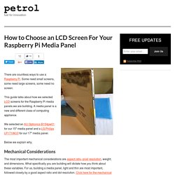 How to Choose an LCD Screen For Your Raspberry Pi Media Panel