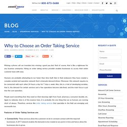 Why to Choose an Order Taking Service