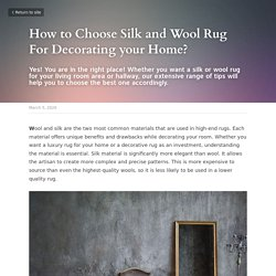 Choose Aqua Silk Rugs For Decorating your Home