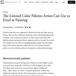 How to Choose a Simple Color Palette for Painting