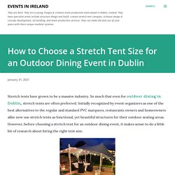 How to Choose a Stretch Tent Size for an Outdoor Dining Event in Dublin