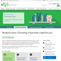 Choose a student loan