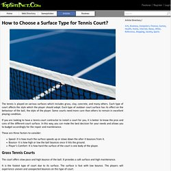 How to Choose a Surface Type for Tennis Court?