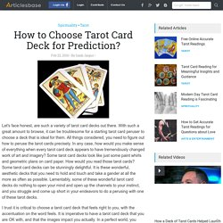 Learn about Tarot Decks in Tarot Reading Courses