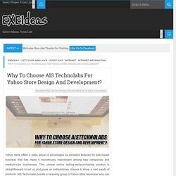 Why To Choose AIS Technolabs For Yahoo Store Design And Development?