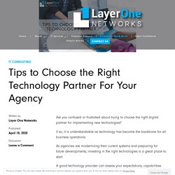 Tips to Choose the Right Technology Partner For Your Agency