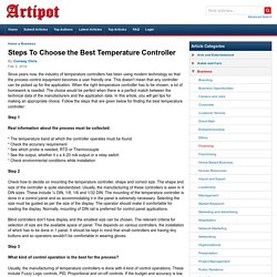 Steps To Choose the Best Temperature Controller