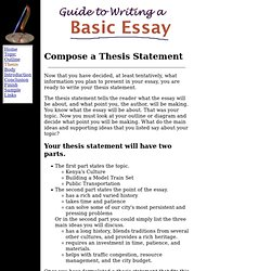 What Is Thesis Statement In Essay Thesis Statement For Essay Thesis  Statement For An Essay Helping