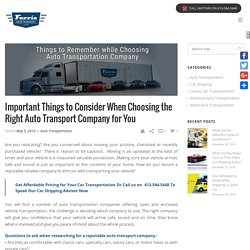 How to Choose An Auto Transportation Company
