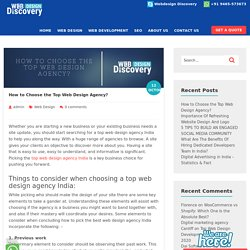 How to Choose the Top Web Design Agency? - Webdesigndiscovery