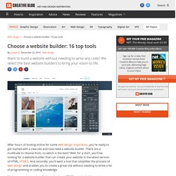 Choose a website builder: 13 top tools