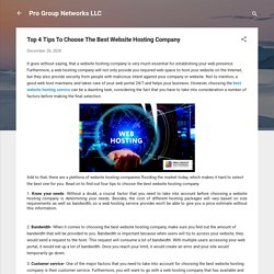 Top 4 Tips To Choose The Best Website Hosting Company