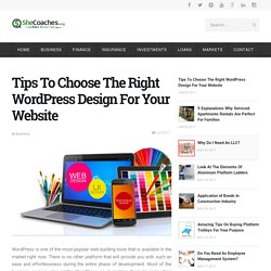 Choose The Right Design For Your Website