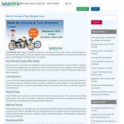 How to choose a Two Wheeler Loan - Letzbank