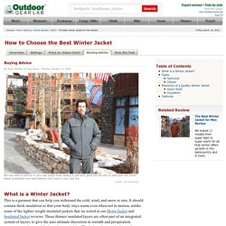 How to Choose the Best Winter Jacket