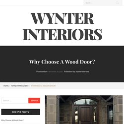 Why Choose A Wood Door? – Wynter Interiors