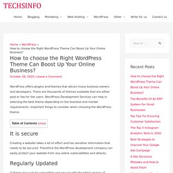 How to choose the Right WordPress Theme Can Boost Up Your Online Business?