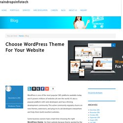 Select Inovative Wordpress Theme For Your Website