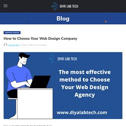 How to Choose Your Web Design Company