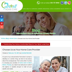 Choose Us as Your Home Care Provider