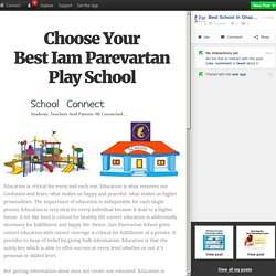 Choose Your Best Iam Parevartan Play School
