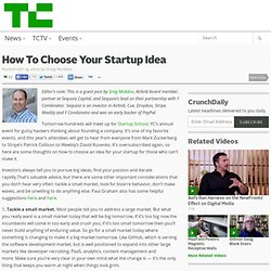How To Choose Your Startup Idea