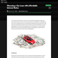 Choosing a Car Loan with Affordable Interest Rates by Robert Hellson on CodePen
