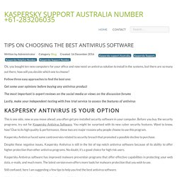 Tips on Choosing the Best Antivirus Software