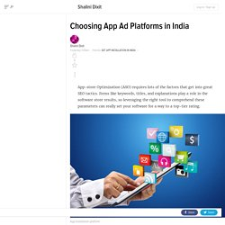 Choosing App Ad Platforms in India