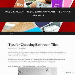 Wall & Floor Tiles, Sanitaryware – Somany Ceramics