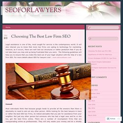 Best Law Firm SEO