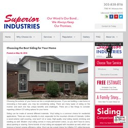 Choosing the Best Siding for Your Home