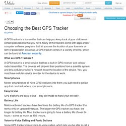 Choosing the Best GPS Tracker