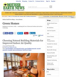 Choosing Natural Building Materials for Improved Indoor Air Quality – Green Homes – MOTHER EARHT NEWS