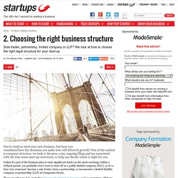 2. Choosing the right business structure