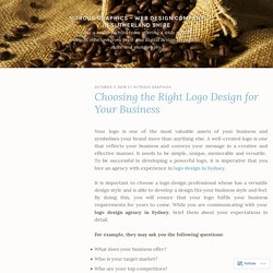 Choosing the Right Logo Design for Your Business – Nitrous Graphics – Web Design Company in Sutherland Shire