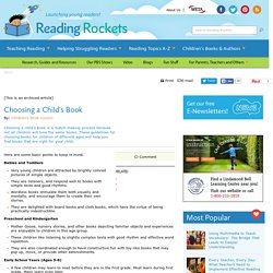 Reading Rockets: Choosing a Child's Book